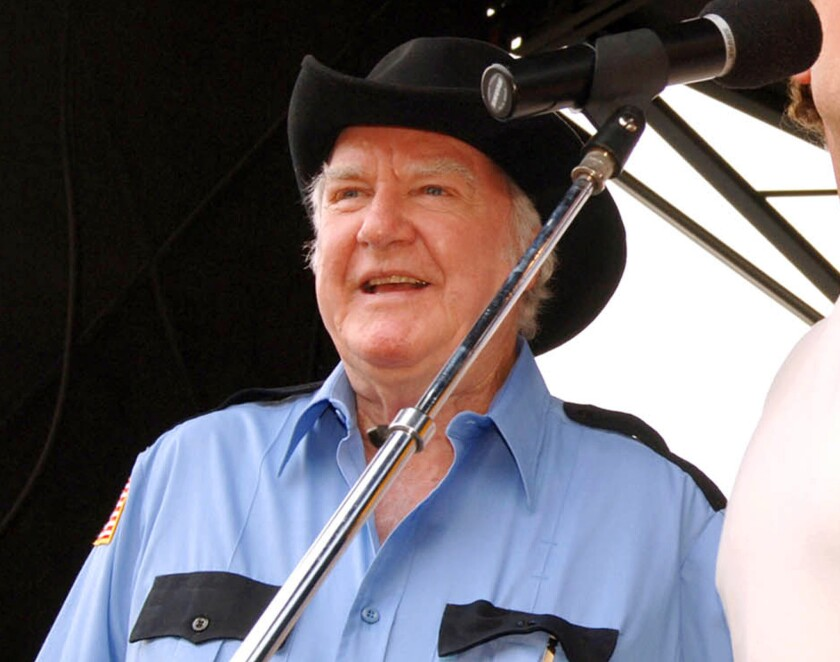 """Actor James Best, known for playing Sheriff Rosco P. Coltrane on """"The Dukes of Hazzard,"""" has died."""