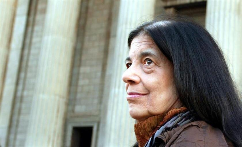 Picture dated 10 March 2004 shows US writer Susan Sontag at the inaugural Nadine Gordimer Lecture in the Great Hall of the University of the Wiwatersrand in Johannesburg, South Africa. EPA/EFE/File