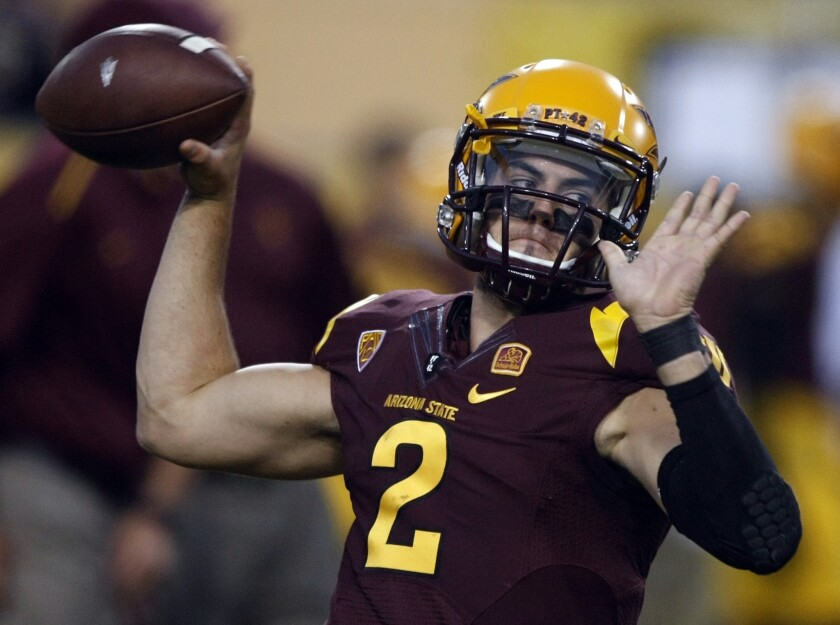 Backup quarterback Mike Bercovici will get the start for Arizona State against UCLA on Thursday following an injury to start Taylor Kelly in the Sun Devils' 38-24 win over Colorado on Sept. 13.