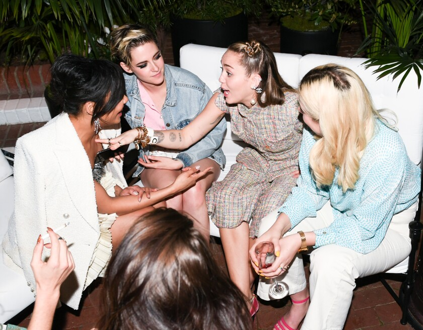 Tessa Thompson, Kristen Stewart, Miley Cyrus and Suzie Riemer