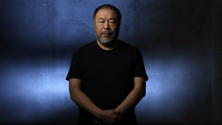 LOS ANGELES, CA -- SEPTEMBER 21, 2018: Chinese artist Ai Weiwei takes on L.A. with three exhibitions