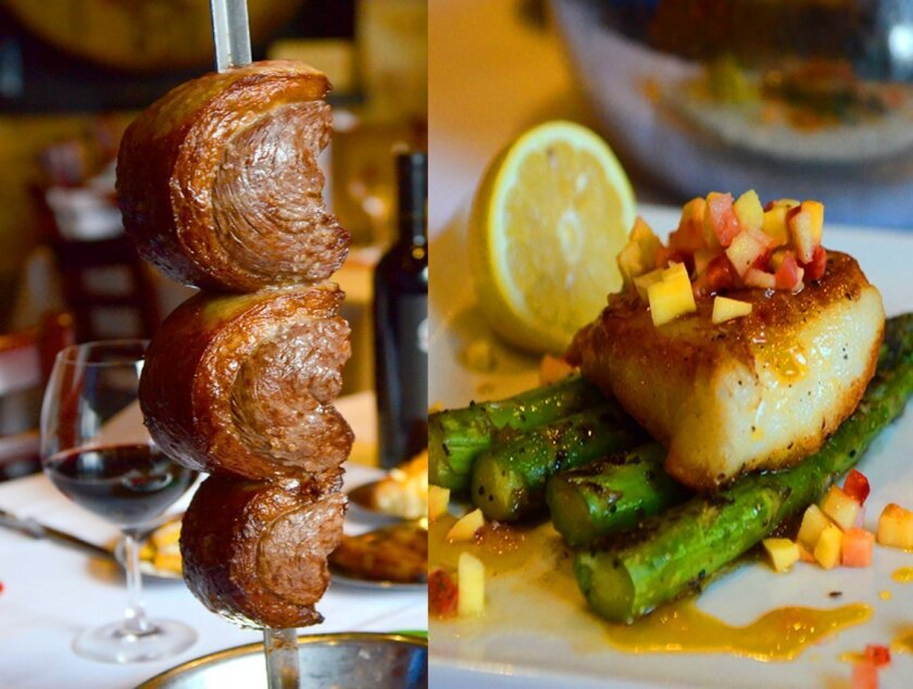Fogo de Chao's popular item include the Picanha (grilled steak presented on a giant skewer) and Mango Chilean Sea Bass.