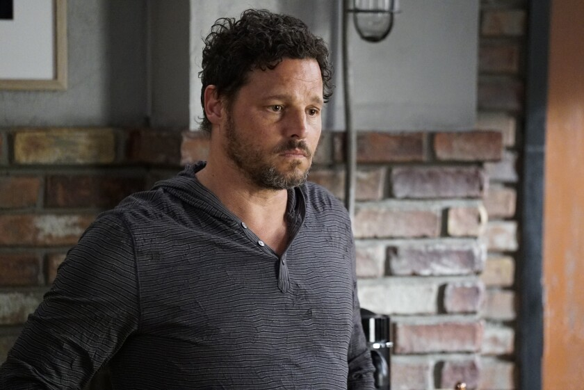 "This image released by ABC shows Justin Chambers in a scene from ""Grey's Anatomy."" Chambers, who played Alex Karev on the show, left last season after a 15-year run. (Kelsey McNeal/ABC via AP)"
