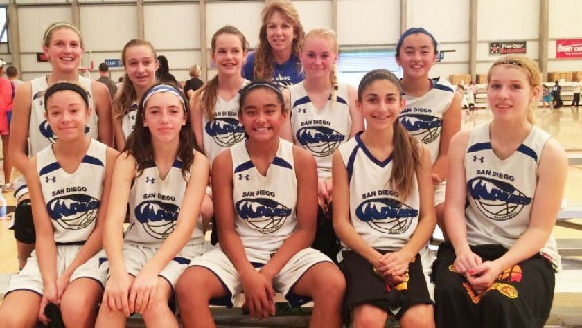 Runners-up in the Sol Fall League eighth-grade girls basketball competition, the girls from San Diego Waves narrowly lost a hard-fought final to Gamepoint.