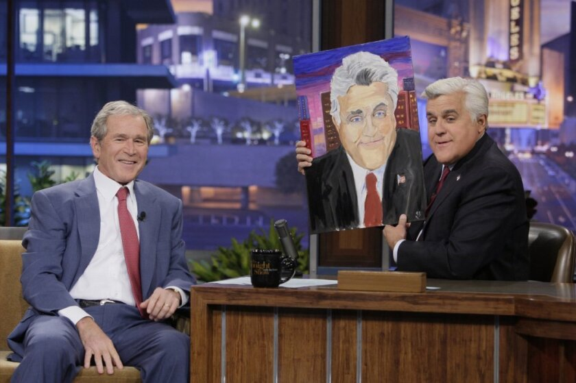 George W  Bush to show artwork in first exhibition - Los