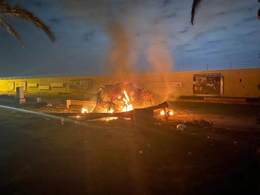 Iran's Quds Force leader Qassem Suleimani and Iraqi militia commander Abu Mahdi al-Muhandis were killed Jan. 3 in a U.S. airstrike on Baghdad's international airport.