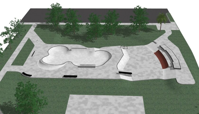 2009 Artist rendering of future skate park