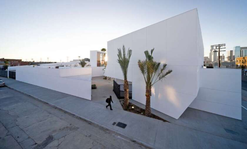 The MOCA architecture show would concentrate on work such as Michael Maltzan's Inner City Arts complex on the edge of Skid Row in downtown L.A.