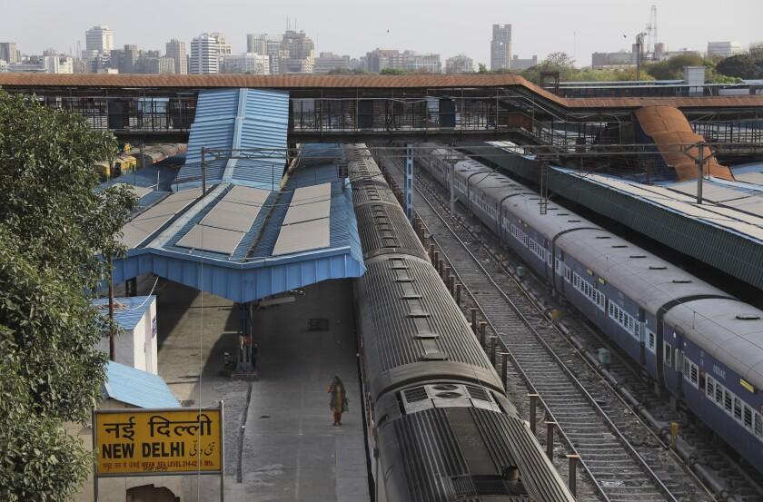 Virus Outbreak India Trains