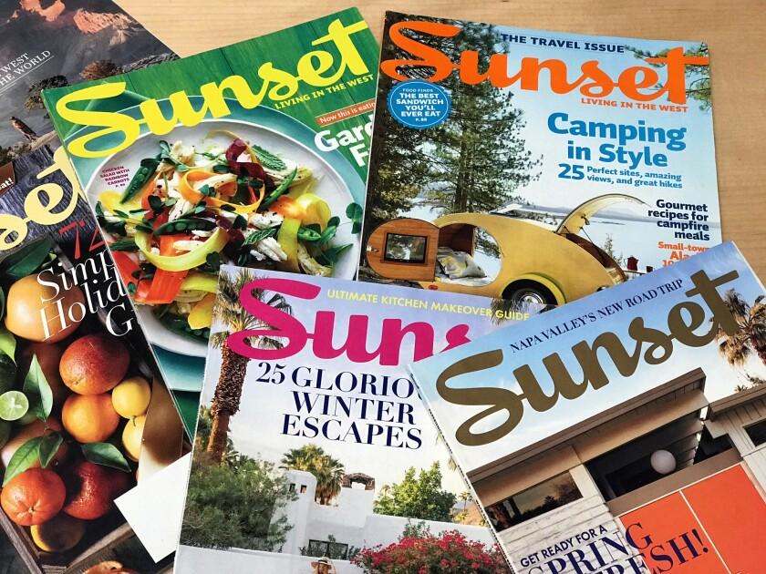 Sunset Magazine covers