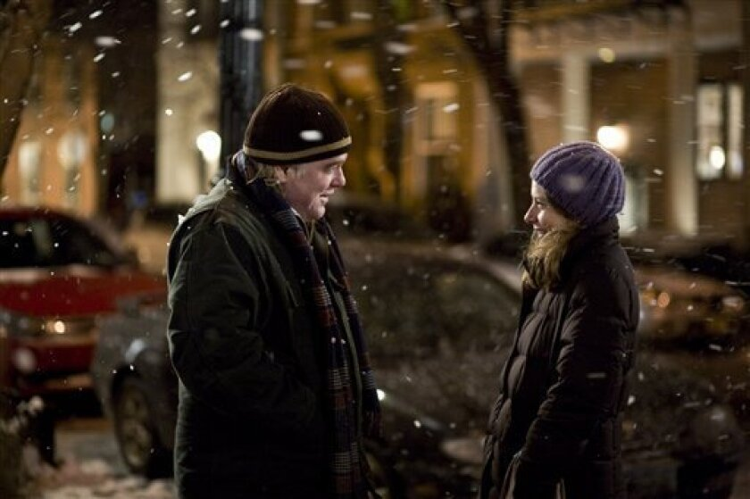 """In this film publicity image released by the Sundance Film Festival, Phillip Seymour Hoffman, left, and Amy Ryan are shown in a scene from, """"Jack Goes Boating."""" (AP Photo/Sundance Film Festival)"""