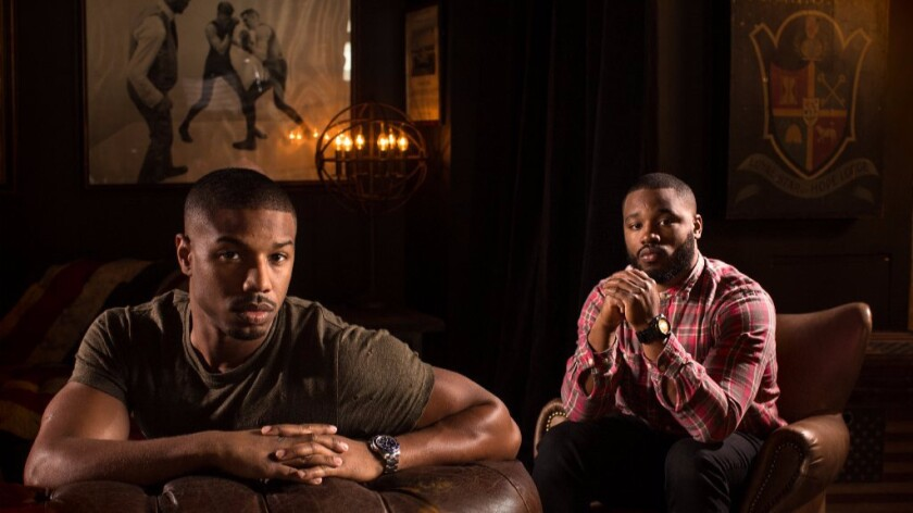 Actor Michael B. Jordan and director Ryan Coogler -- photographed at the Los Angeles Athletic Club -- were both invited to join the Academy of Motion Picture Arts and Sciences.