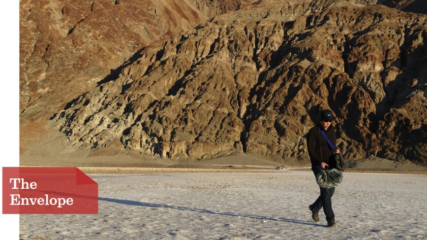 Oliver Tarney makes recordings in the salt flats of Death Valley for 'The Martian'