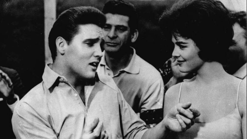 "Elvis Presley is shown in a scene from his 1962 movie, ""Kid Galahad."""