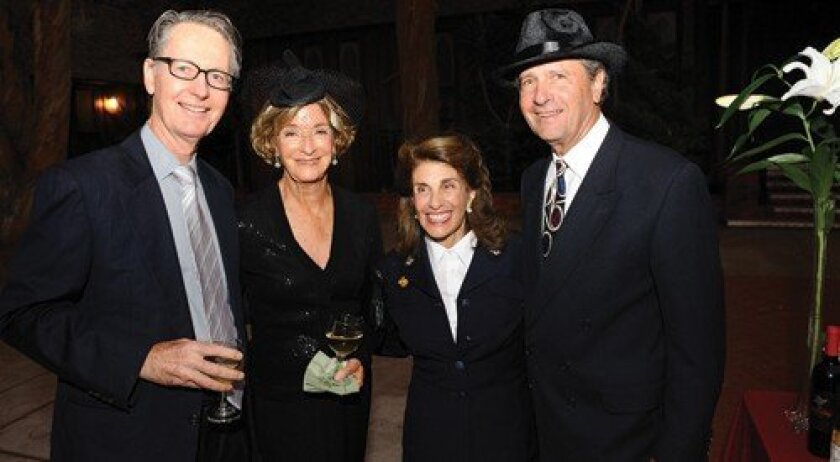 Nick and Fran Frost, Suzi Resnick (in her aunt's WWII Navy Wave uniform), Stan Marks (Photo: Jon Clark)