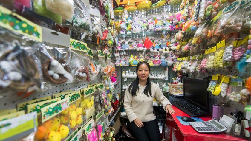 Yang Wei, 30, manager of the Jiangsu Taizhou City Wenhao Handicraft Product Factory.