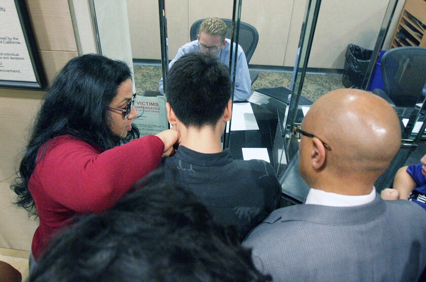 A 16-year-old boy, with his mother Tawnya Nevarez to his left, was cited Friday on suspicion of several midemeanor and felony charges stemming an incident in which he was pepper sprayed and shot with a Taser after allegedly assaulting an officer during a traffic stop. During the incident, Nevarez said she told the officer that her son had autism and needed space.
