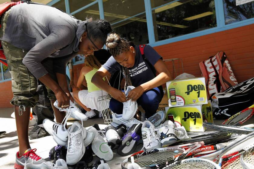 Teen's goodwill gets ball rolling for Compton High tennis team