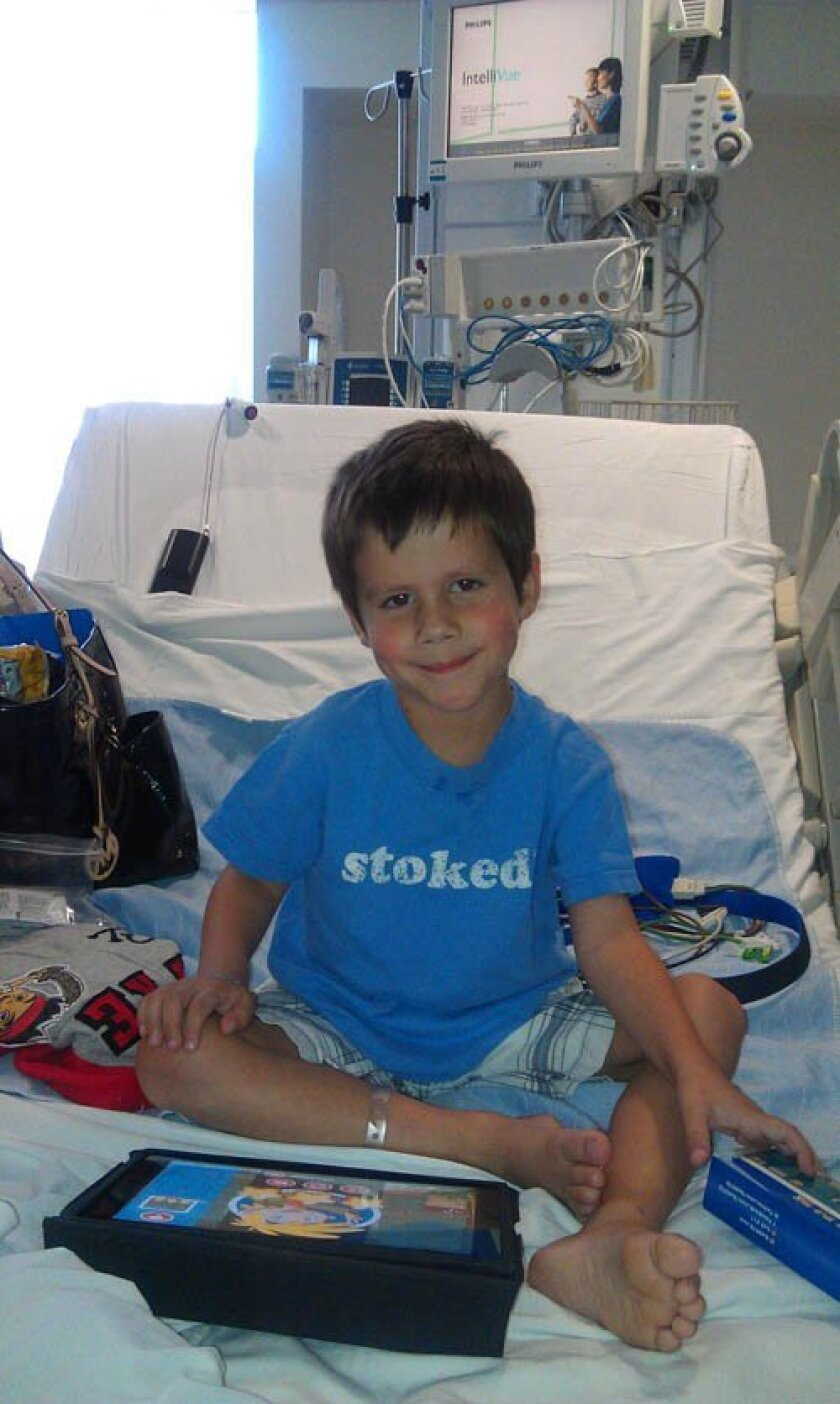 After open-heart surgery at age 4, Evan Rodriguez is a healthy, happy kindergarten student at Bird Rock Elementary. Courtesy