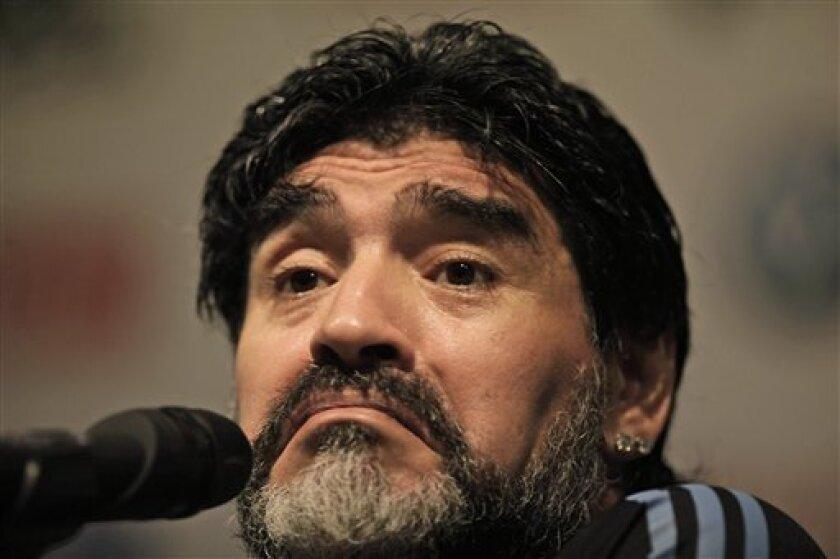 Maradona Milito Adds To Argentina Scoring Options The San Diego Union Tribune
