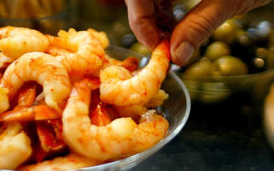 Mojo marinated shrimp
