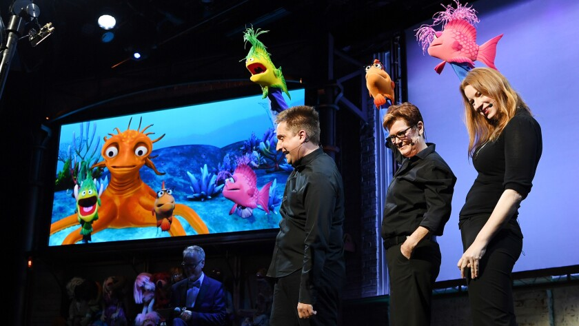 """A rotating cast of improv comedians who double as puppeteers do their best to control an unruly group of puppets, 21st-century cousins of the original Muppets, in """"Puppet Up! Uncensored."""""""