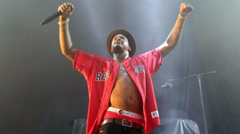"""Los Angeles hip-hop star YG did not forfeit his $60,000 fee with San Diego State University by performing his explicit song, """"F--- Donald Trump,"""" at his Friday SDSU concert."""