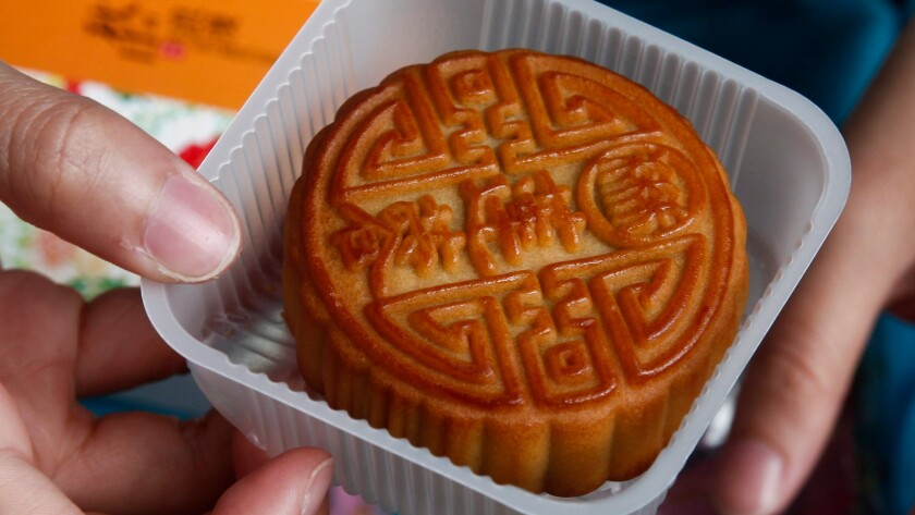 Mooncakes are a part of the celebration at Mid-Autumn Festivals around the world, including this one this week in Beijing.