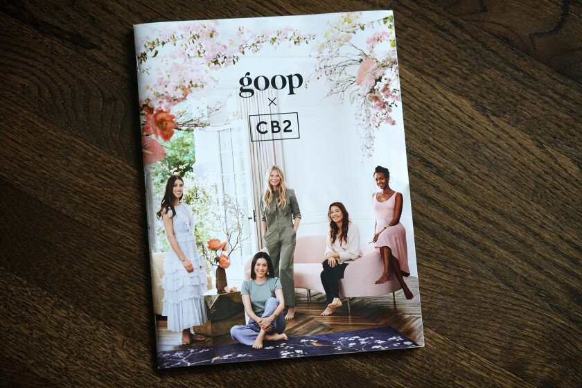 CB2's design collaboration with Goop.