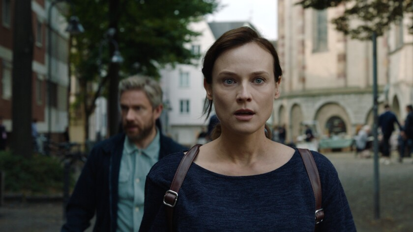 """Martin Freeman and Diane Kruger in the movie """"The Operative."""""""