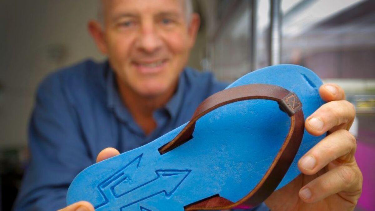 fc564fa3e Making sandals from the sea  biochemists fashion algae-based flip-flops -  The San Diego Union-Tribune