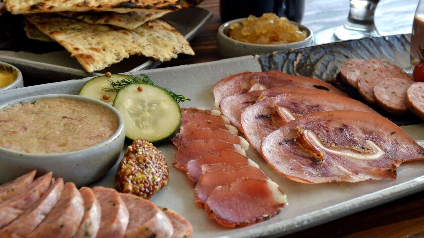 Charcuterie at Cured restaurant in San Antonio, Texas.