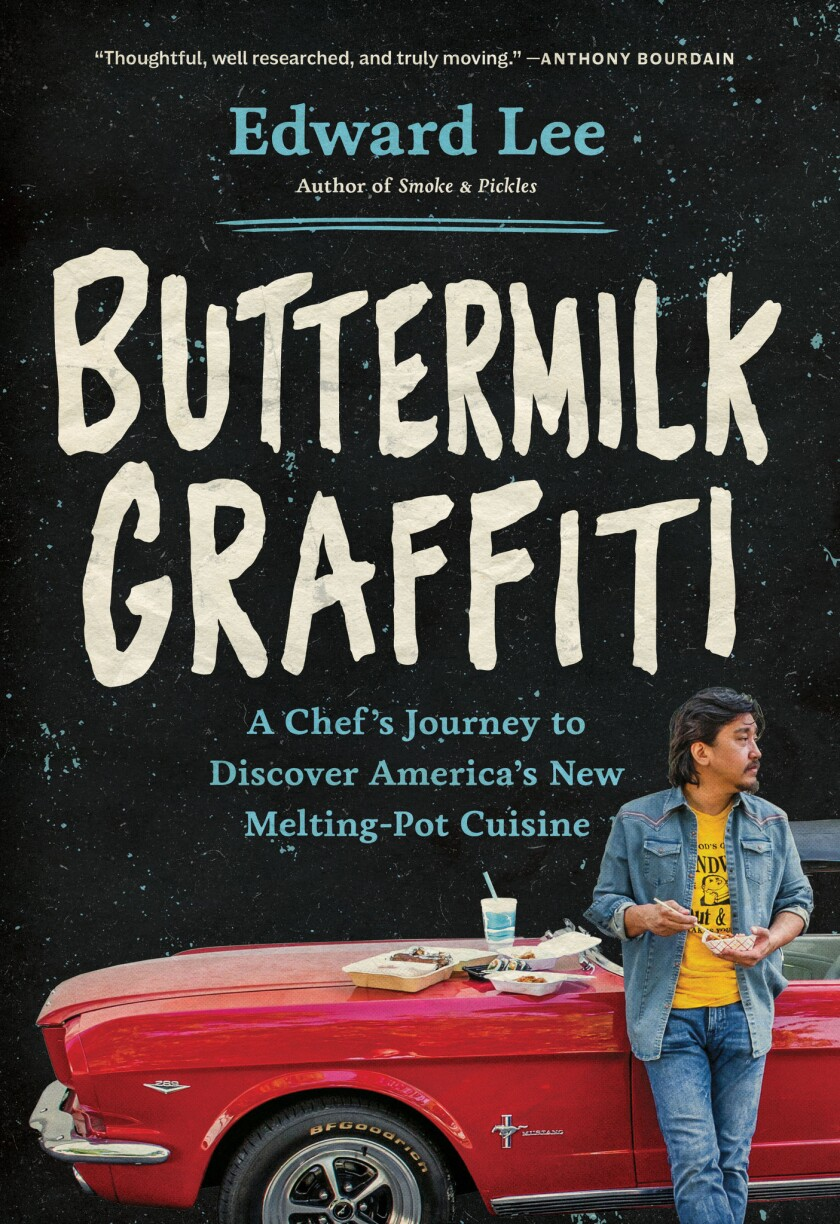 """Cover of book of the week """"Buttermilk Graffiti,"""" by Edward Lee."""