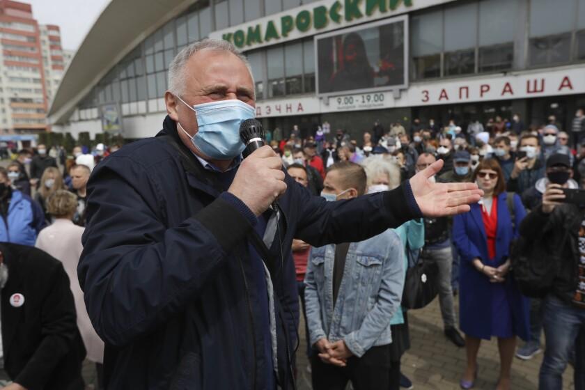 Virus Outbreak Belarus Demonstrations