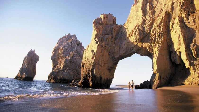 El Arco, the iconic rock arch at Land's End that separates the Pacific from the Sea of Cortez.