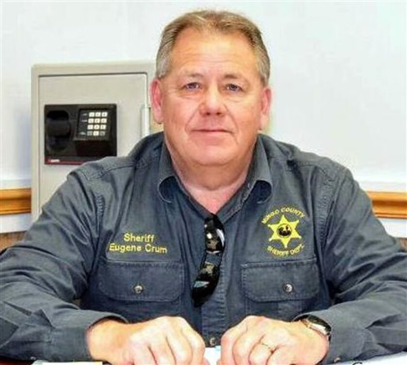 This undated photo shows Mingo County Sheriff Eugene Crum. Crum was gunned down Wednesday, April 3, 2013 in the spot where he usually parked and ate lunch in Williamson, W.Va. (AP Photo/Williamson Daily News)