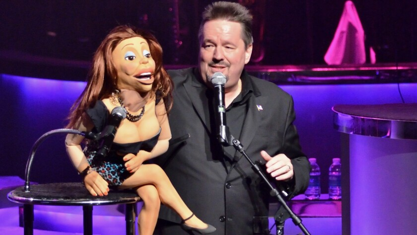 Terry Fator performs during his 7th anniversary show at the Mirage hotel-casino at 3400 S. Las Vegas