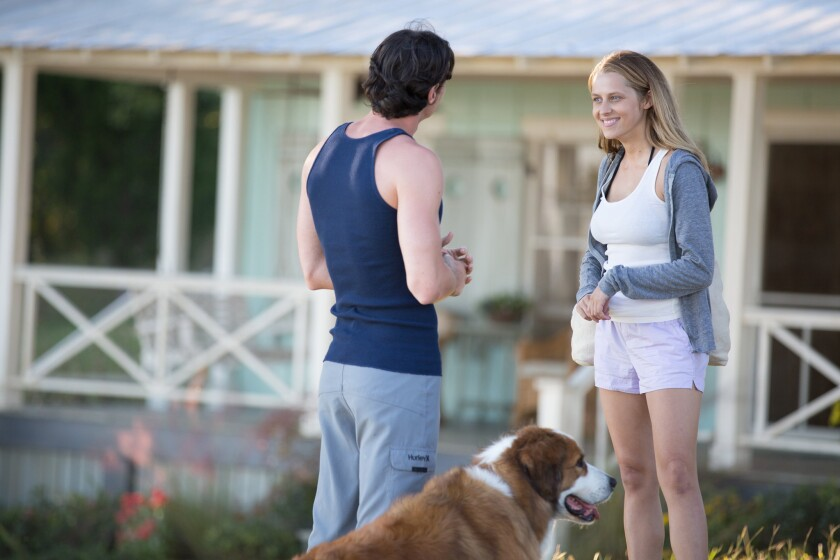 """Benjamin Walker, left, and Teresa Palmer in a scene from """"The Choice."""""""