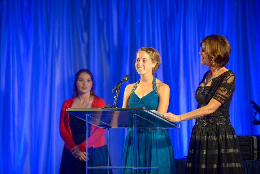 Ana Gimber speaks at the International Bipolar Foundation Gala in 2015. Courtesy