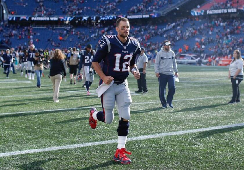En la imagen, el mariscal de campo de los Patriots de Nueva Inglaterra, Tom Brady. EFE/Archivo
