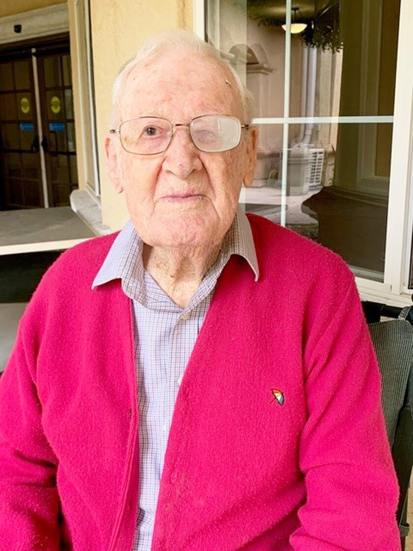 Don Sweet, who turned 100 on Tuesday.