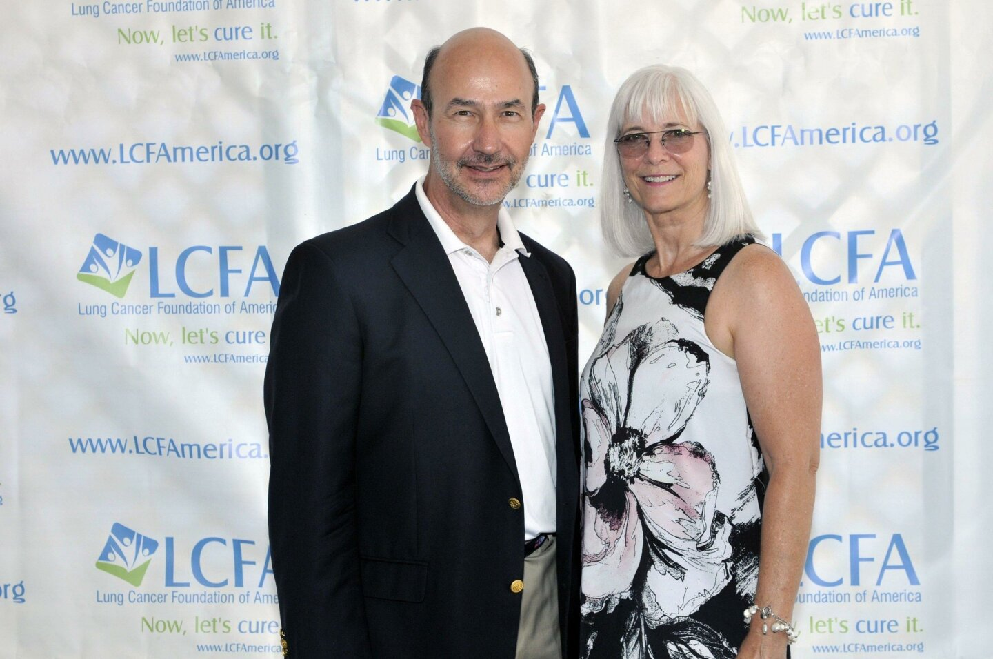 Lung Cancer Foundation of America Executive Director Jim Baranski, President and co-founder Kim Norris
