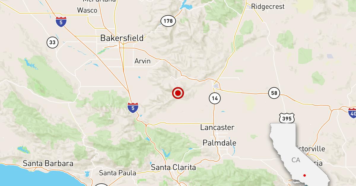 Gempa: 3.5 gempa mengguncang di dekat Tehachapi, California.