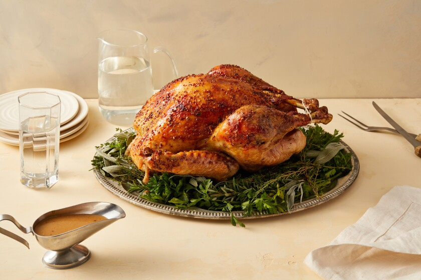 A maple-glazed turkey.