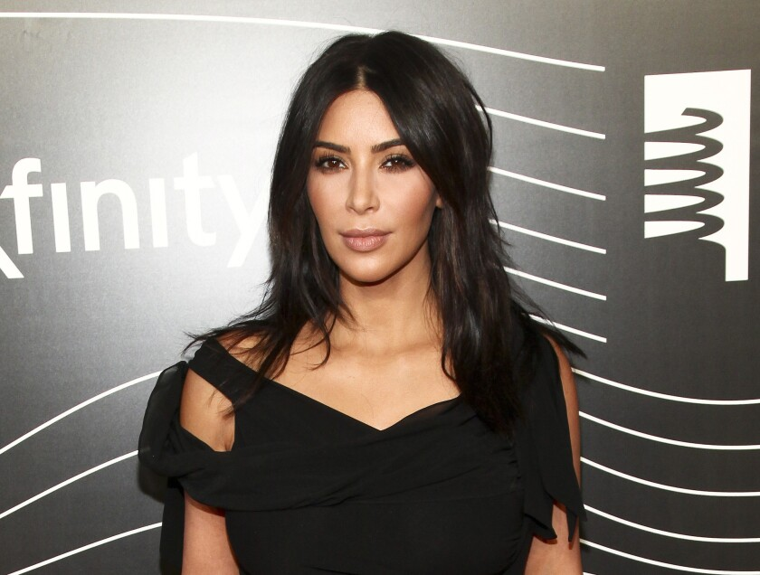 Kim Kardashian attends the 20th annual Webby Awards in New York on May 16.