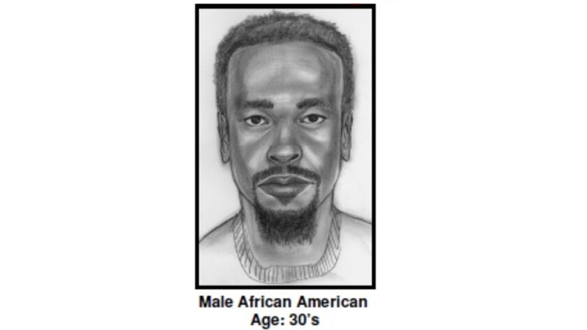 Sketch of person of interest in the 2009 killing of attorney Jeffrey Tidus in Rolling Hills Estates.