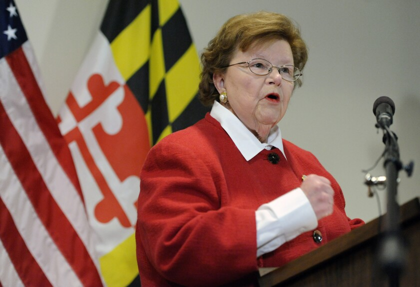Sen. Barbara Mikulski, D-Md., the longest-serving woman in the history of Congress, became the crucial 34th vote in support of the Iran nuclear deal on Wednesday morning.