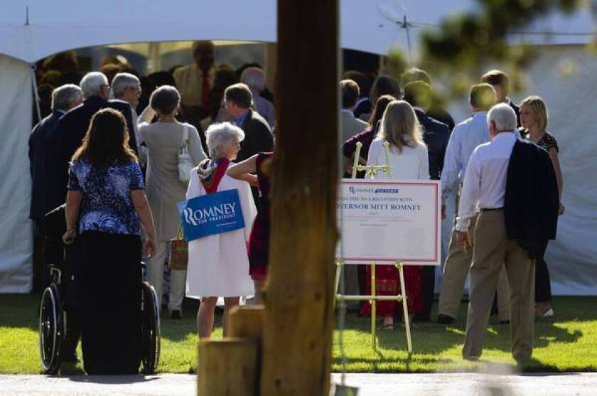 Dick Cheney hosts fundraiser for Romney