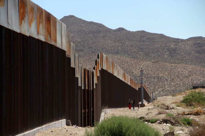 Wall along the U.S.-Mexico border