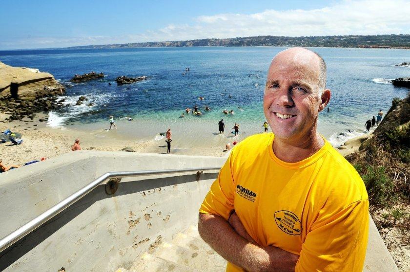 La Jolla Cove Swim Club president Dan Simonelli is a nationally recognized hero.